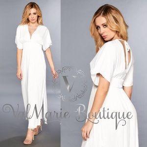 River Walk Slit Maxi Dress